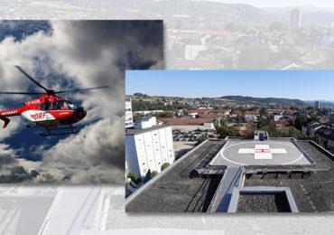 Markierungsarbeiten Hubschrauberlandeplatz